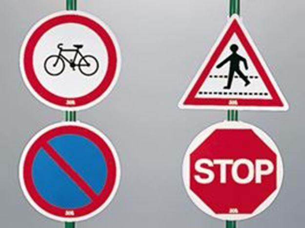 Afbeelding van Andere verkeersborden met voetsteun