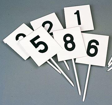 Afbeelding van markeringsbordjes - vierkant - set/12