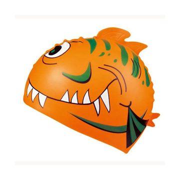 Afbeelding van Badmuts Haai siliconen oranje