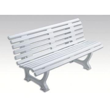 Afbeelding van Zitbank HELGOLAND, L 150cm, 19kg, wit