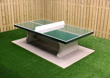 Afbeelding van Tafeltennis beton recht groen