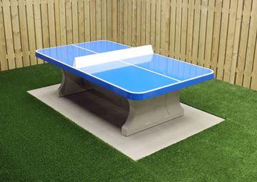 Afbeelding van Tafeltennis beton afgerond blauw