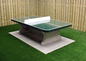 Afbeelding van Tafeltennis beton afgerond groen
