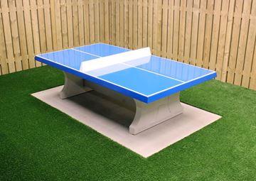 Afbeelding van Tafeltennis beton recht blauw