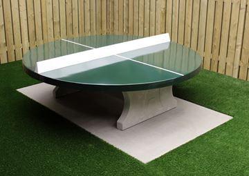 Afbeelding van Tafeltennis beton rond groen