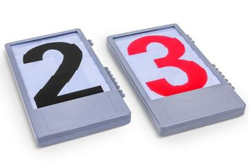 Afbeelding van Cijfercassette (zwart of rood)