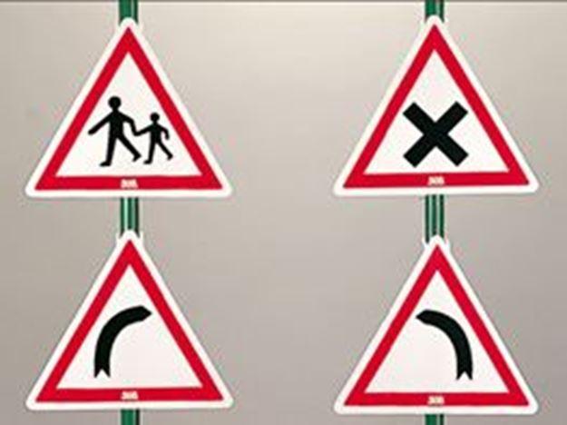 Afbeelding van Gevaarborden met voetsteun