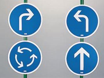 Afbeelding van Pijlborden met voetsteun