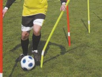 Afbeelding van Slalomstok flex, 160cm, geel