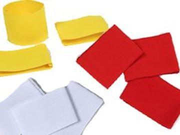Afbeelding van kap.banden - set/3 - geel