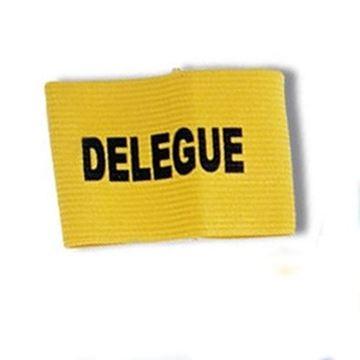 Afbeelding van kap.banden 'délégué geel' - set/3