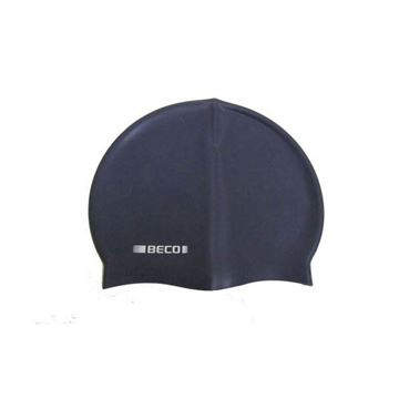 Afbeelding van Badmuts siliconen donkerblauw