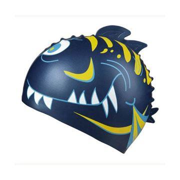 Afbeelding van Badmuts Haai siliconen donkerblauw