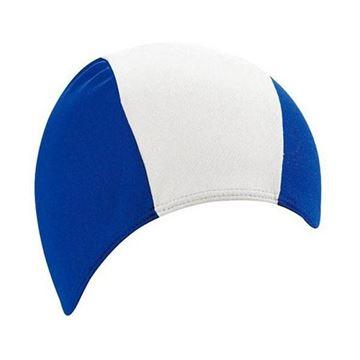 Afbeelding van Badmuts Heren polyester blauw/wit