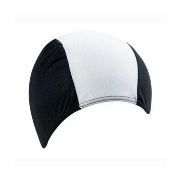 Afbeelding van Badmuts stretch PE/elastaan zwart/wit
