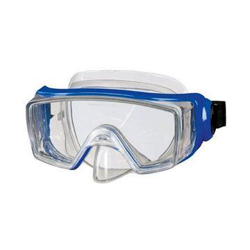 Afbeelding van Duikbril volwassene breed zicht blauw