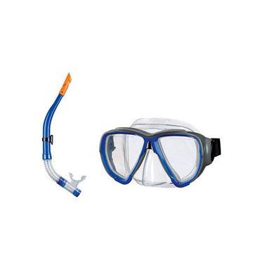 Afbeelding van Snorkelset volwassene blauw