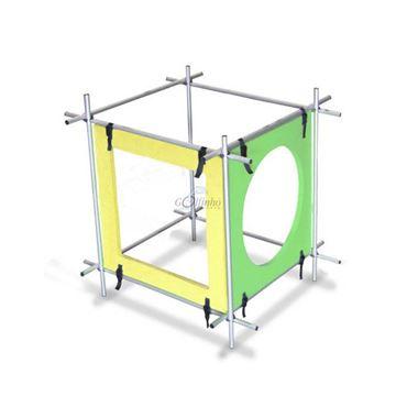 Afbeelding van Duikdoolhof voor kinderen, Small, alu frame + 1 ronde en 1 vierkante ingang