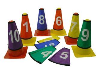 Afbeelding van Markeerkous met nummer voor kegels (set/10)