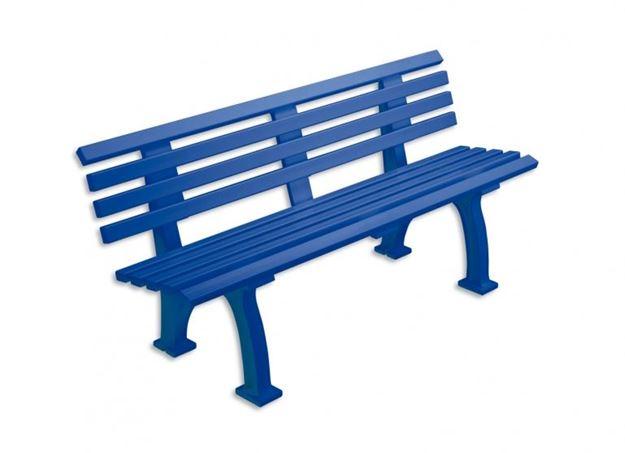 Afbeelding van Zitbank FREIBURG, L 150cm, 15kg, blauw