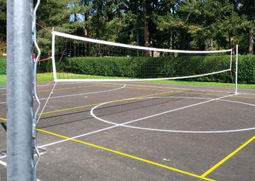 Afbeelding van Volleybalpalen galva grijs (set)