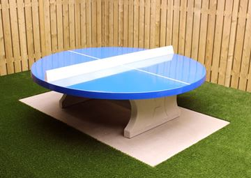 Afbeelding van Tafeltennis beton rond blauw