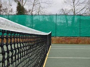 Afbeelding van Tennisnet, dubbele topmaas, band, glasfiber