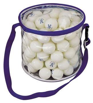 Afbeelding van tafeltennisballetjes wit zak/100