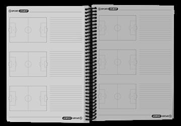 Afbeelding van Notitieblok voetbal A4-formaat