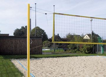 Afbeelding van Beach Volleybal palen standaard, rond