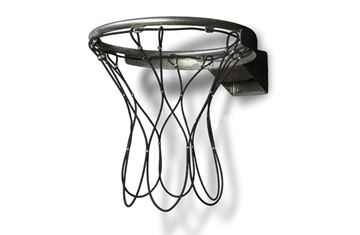 Afbeelding van Basketbalnet geplast. staalkabel