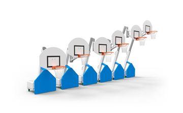 """Afbeelding van Mobiele Basketbaltoren """"Metalu"""", telescopisch (120cm - 305cm)"""