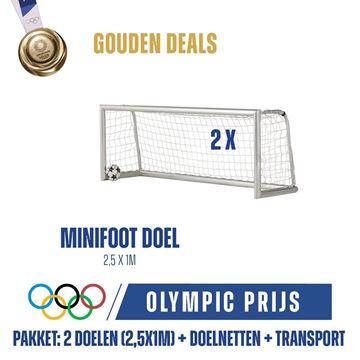 Afbeelding van Voetbaldoel - Mini-voetbaldoelen 2,5X1m, PRO, 1 paar doelen